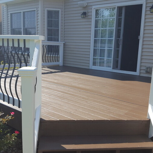 Refinished Stained Deck