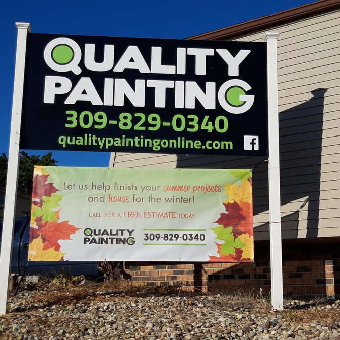 Quality Painting Offices Sign