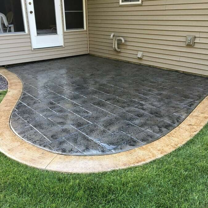 Outdoor Patio Concrete Staining