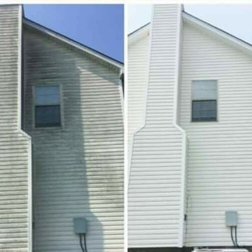 Vinyl Siding Power Wash Dirt and Mildew Removal